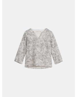 Linnen blouse met organische print