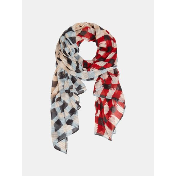 Sjaal met ruitprint