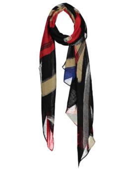 Kleurrijke rode sjaal